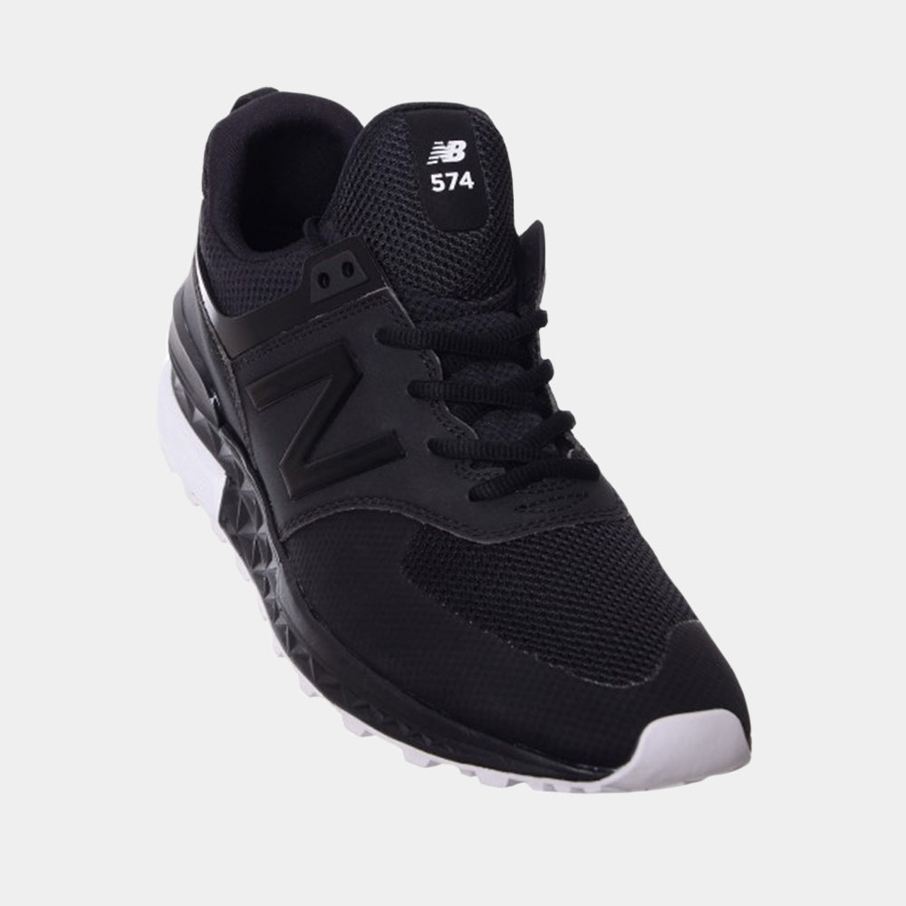 New Balance Mens 574 Sport (Black/White)
