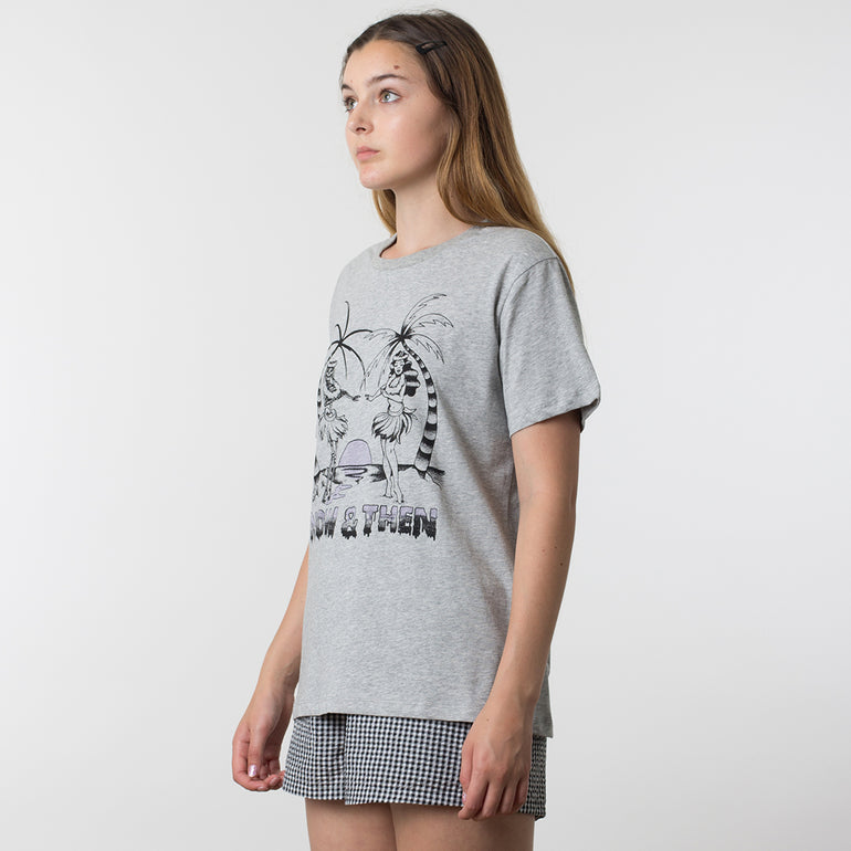 Now & Then Daily Tee / Aloha in Grey Marle