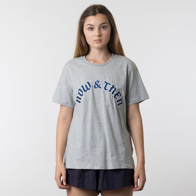 Now & Then Daily Tee / Flourish - Grey Marle