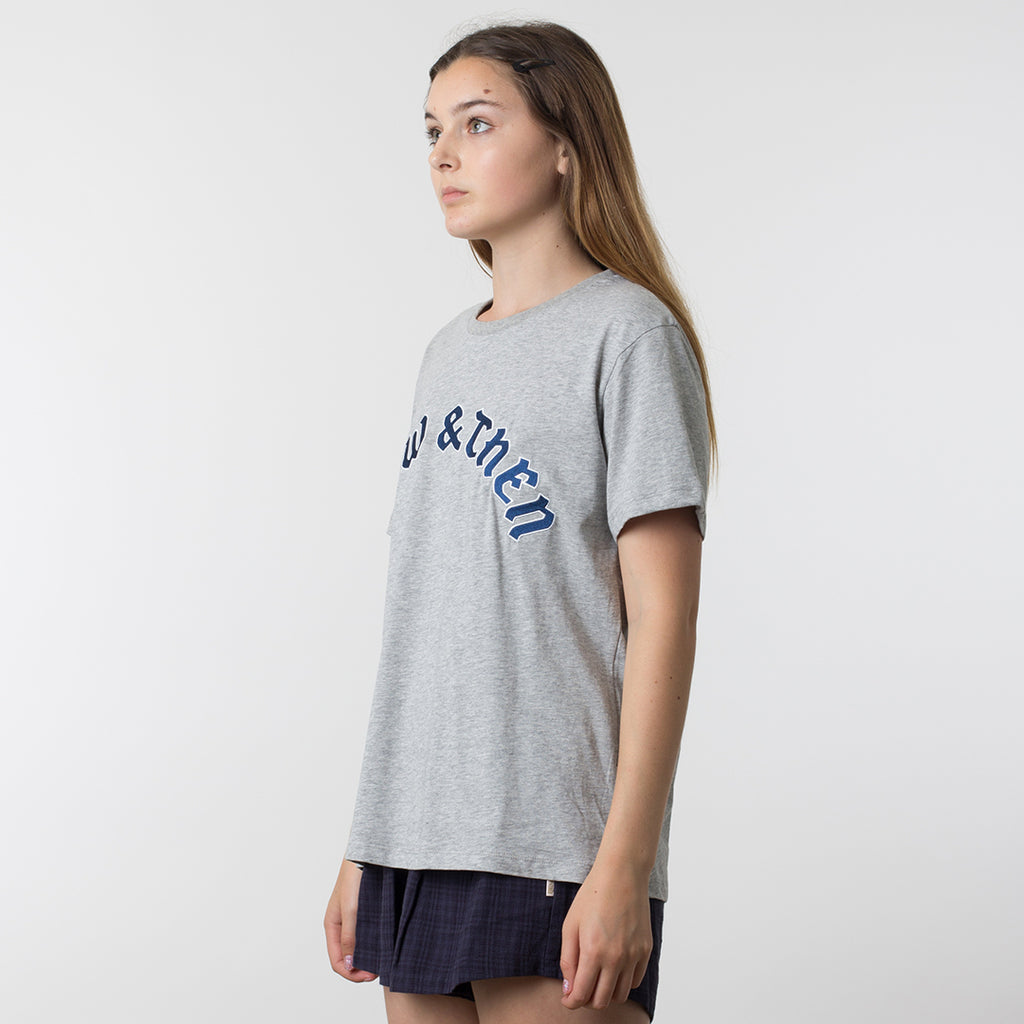 Now & Then Daily Tee / Flourish in Grey Marle