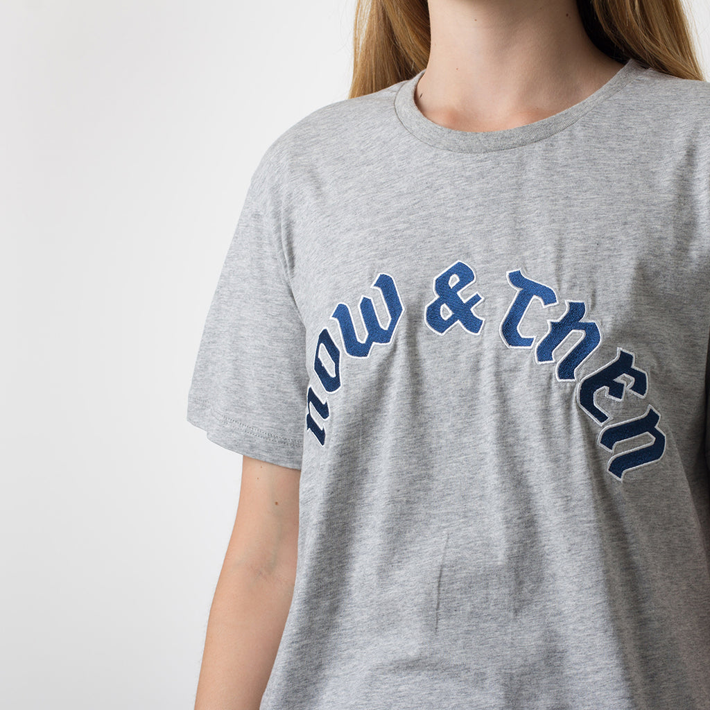 Now & Then Daily Tee / Flourish (Grey Marle)