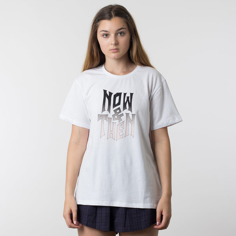Now & Then Daily Tee / Violet - White