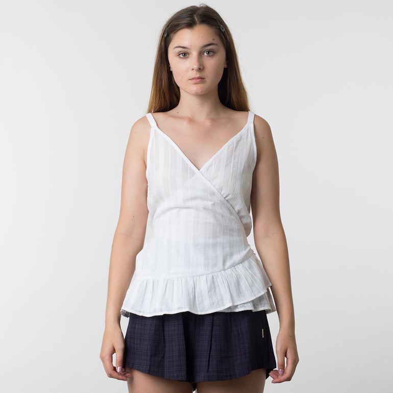 Now & Then Violet Top - White