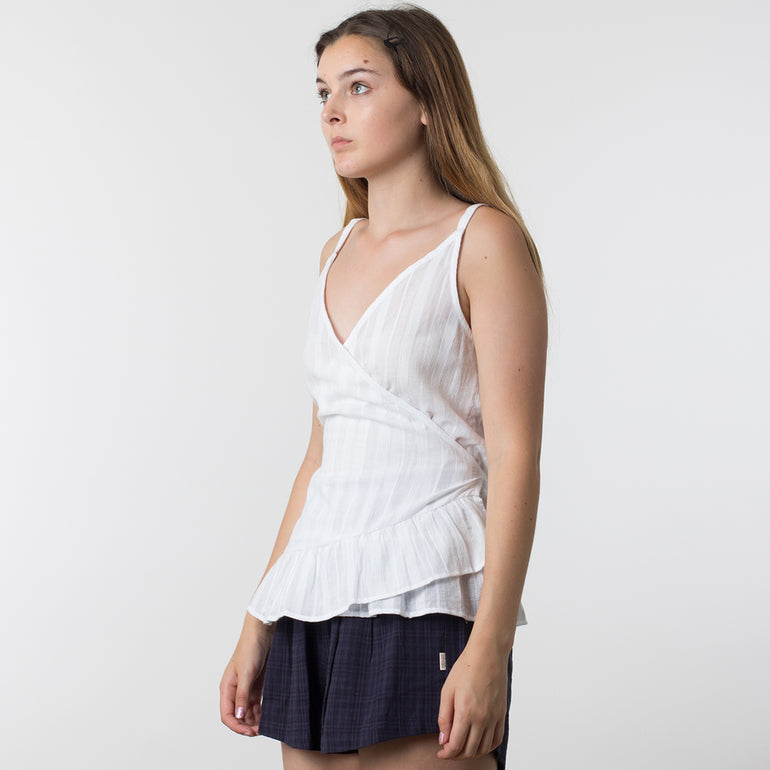 Now & Then Violet Top in White