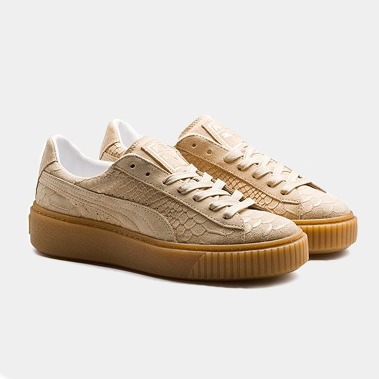 PUMA Basket Platform / Exotic Skin - Natural Vachetta-Gold
