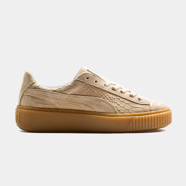 PUMA Basket Platform / Exotic Skin in Natural Vachetta-Gold