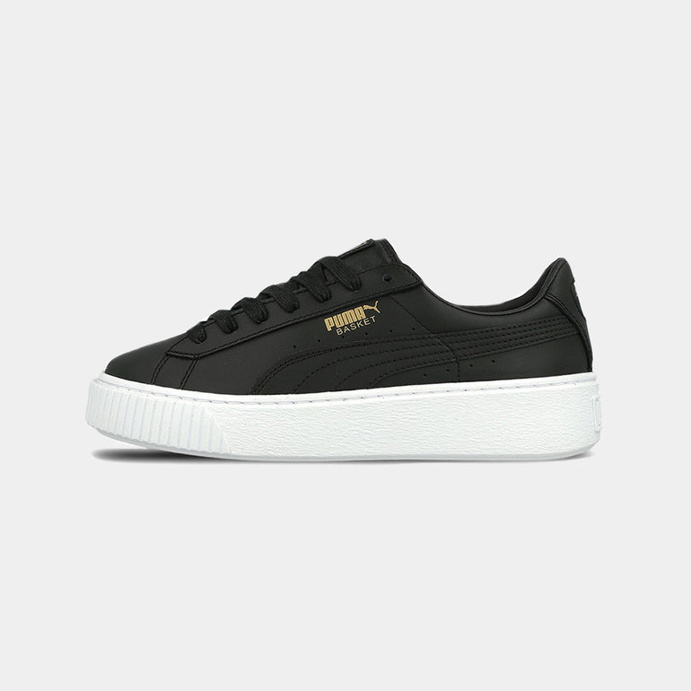 PUMA Basket Platform / Core in Black Gold