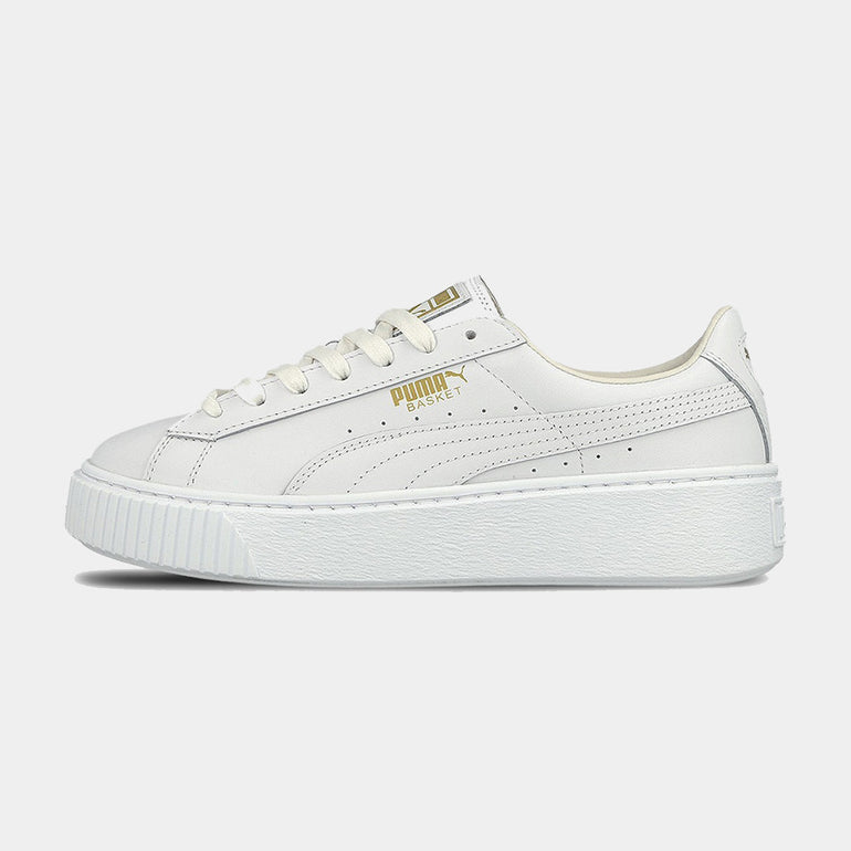 PUMA Basket Platform / Core in White Gold
