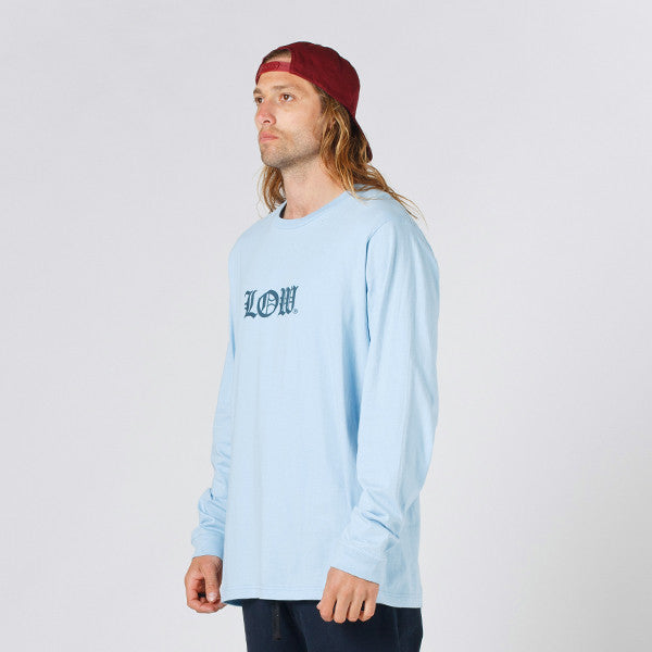 Lower QRS L/S Tee / Cloister (Puff) in Light Blue