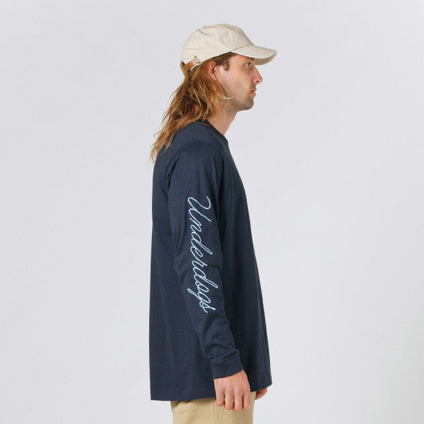Lower QRS L/S Tee / Rex (Embroidered) Navy