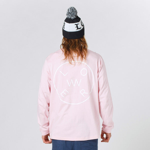 Lower QRS L/S Tee Rotate - Pink