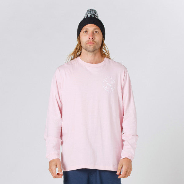 Lower QRS L/S Tee / Rotate - Pink