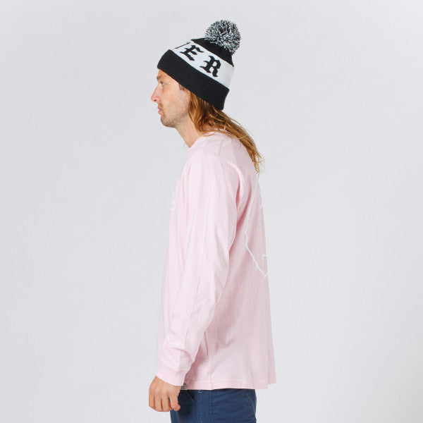 Lower QRS L/S Tee / Rotate Pink