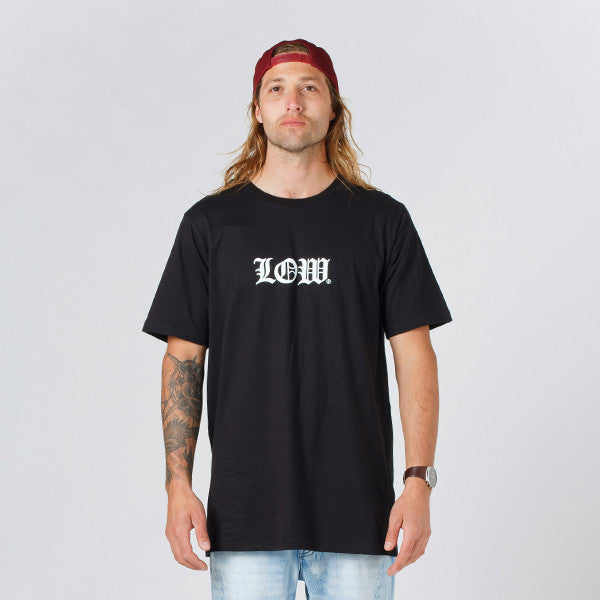 Lower QRS Tee / Cloister (Puff) - Black