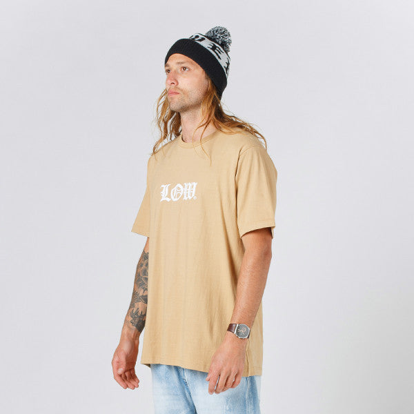 Lower QRS Tee / Cloister (Puff) in Tan