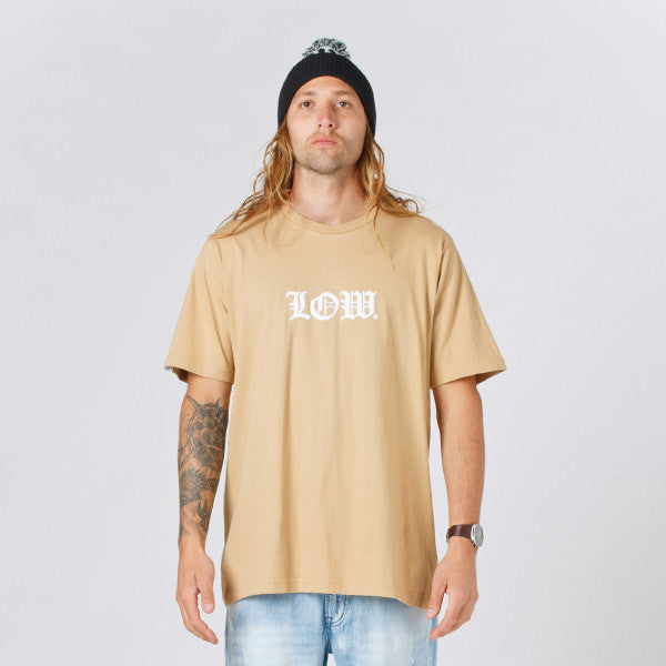 Lower QRS Tee / Cloister (Puff) - Tan