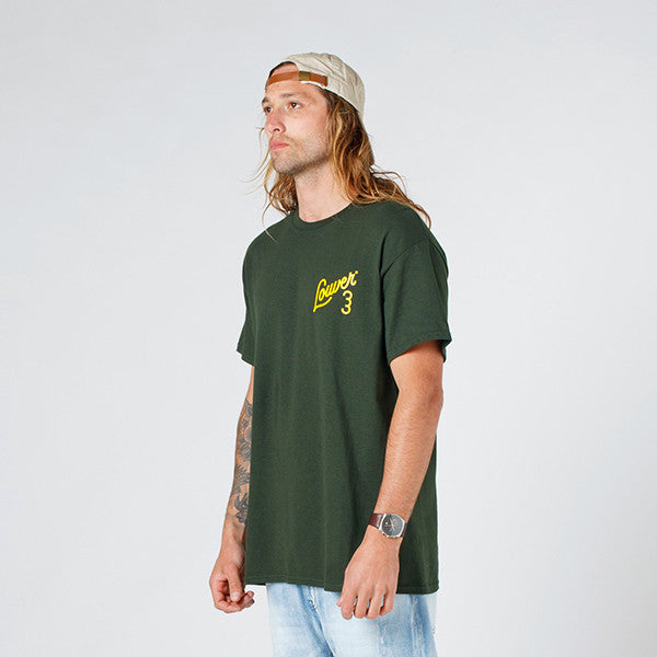 Lower QRS Tee / Ellis in Forest Green