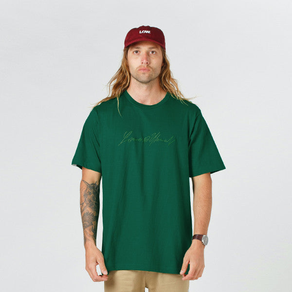 Lower QRS Tee / Geneve (Embroidered) - Forest Green