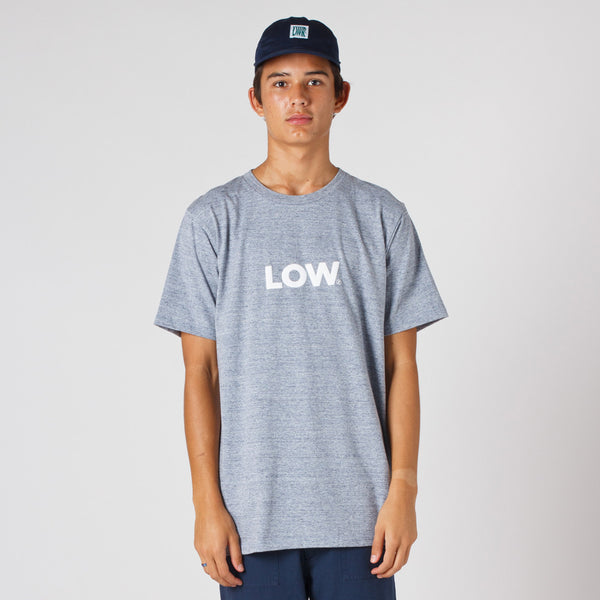 Lower QRS Tee / LOW - Puff Ink (Grey Marle)