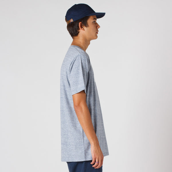 Lower / QRS T-Shirt - LOW Puff Ink (Grey Marle)