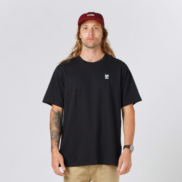 Lower QRS Tee / Reality TV - Black