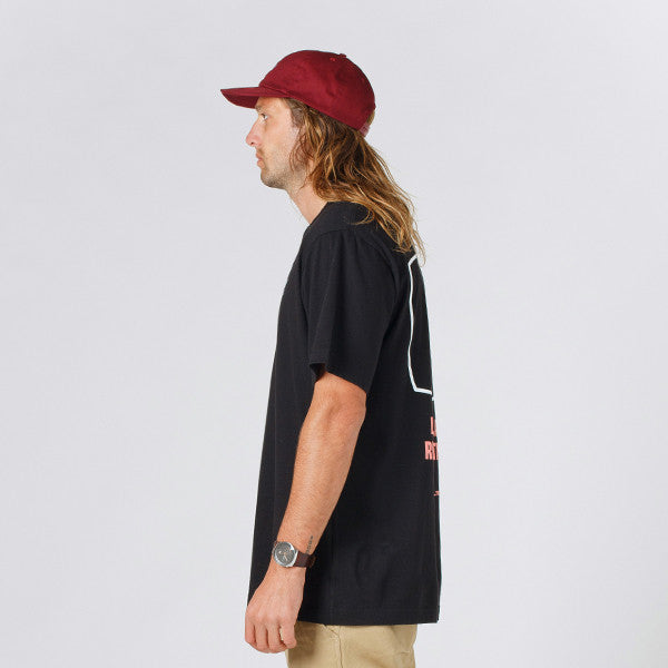 Lower QRS Tee / Reality TV (Black)