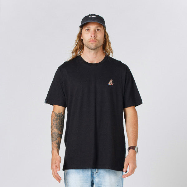 Lower QRS Tee / Rex (Embroidered) - Black
