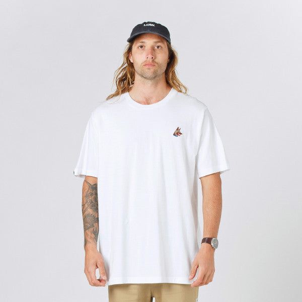 Lower QRS Tee / Rex (Embroidered) - White