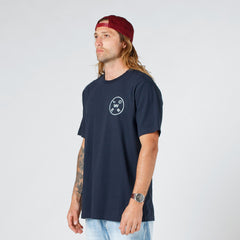 Lower QRS Tee / Rotate in Navy