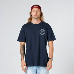Lower QRS Tee / Rotate - Navy