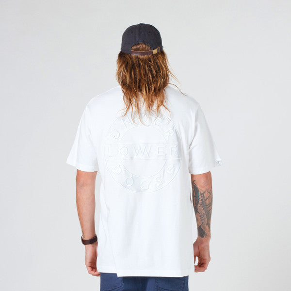 DROP 2 Lower QRS Tee / Sign (Embroidered) - White