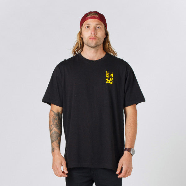 Lower QRS Tee / Take Out - Black