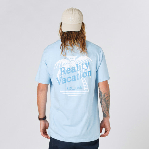 Lower QRS Tee / Vacation Light Blue