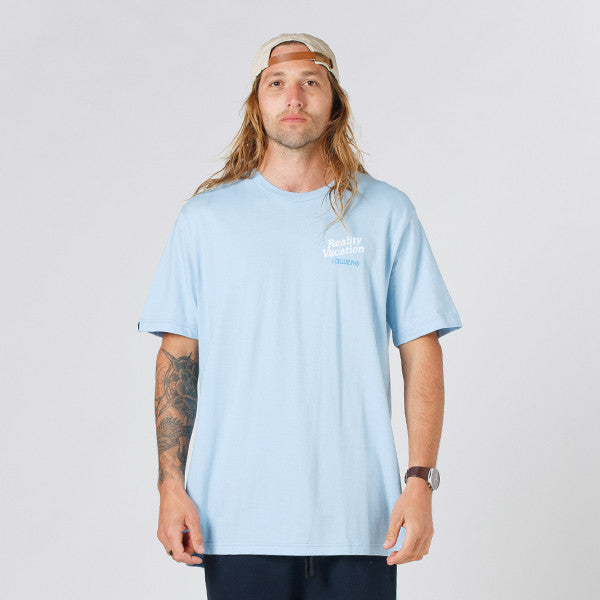 Lower QRS Tee / Vacation - Light Blue