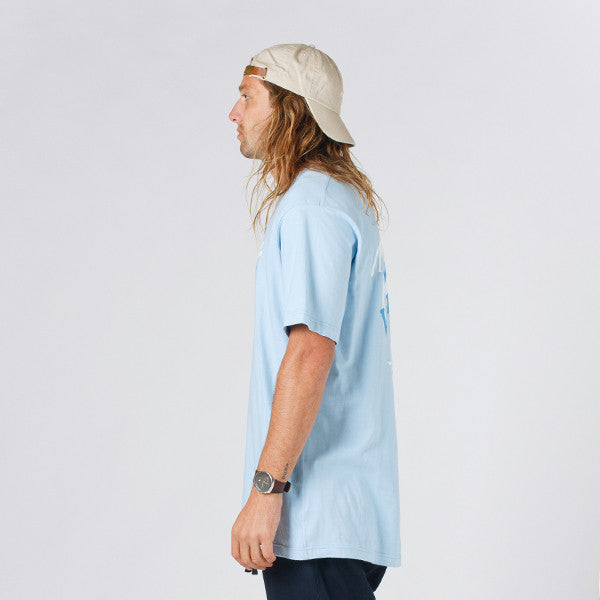 Lower QRS Tee / Vacation (Light Blue)