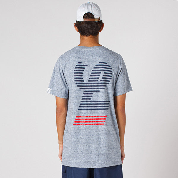 Lower / QRS Tee - Blinds in Grey Marle