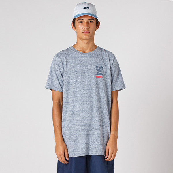 Lower QRS Tee / Blinds - Grey Marle