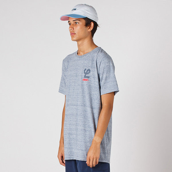 Lower QRS Tee / Blinds in Grey Marle