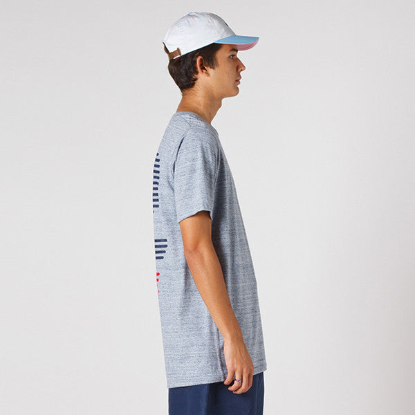 Lower QRS Tee - Blinds / Grey Marle