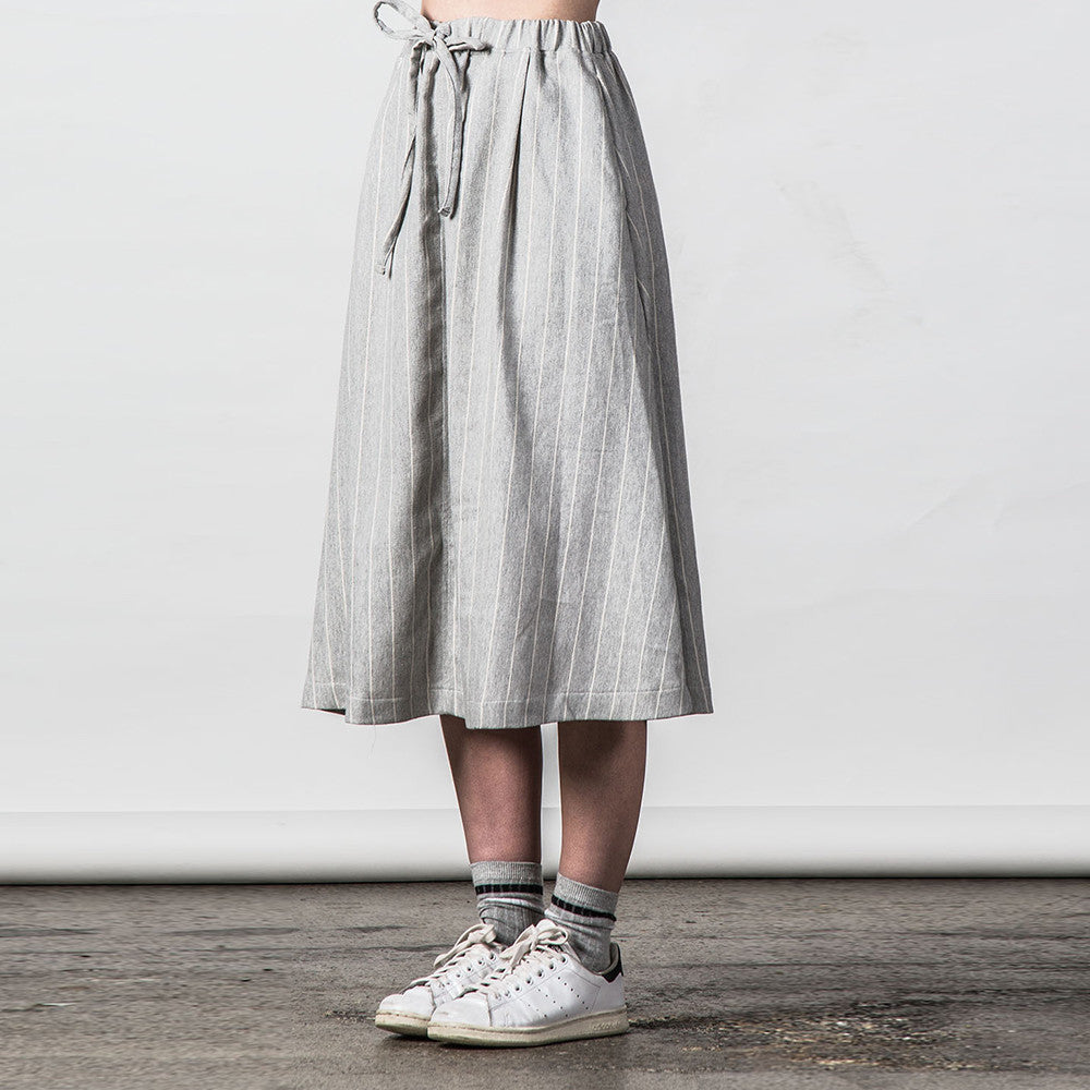 Thing Thing Recent Skirt in Grey Stripe