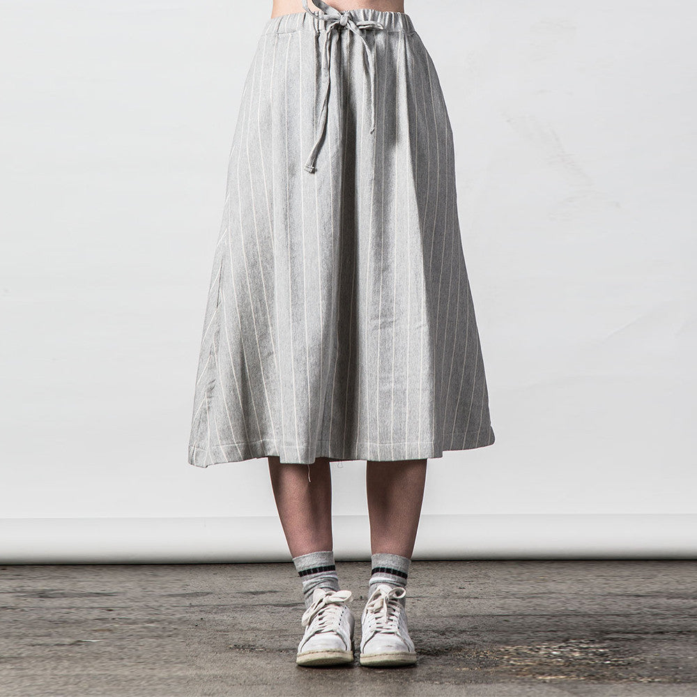 Thing Thing Recent Skirt - Grey Stripe