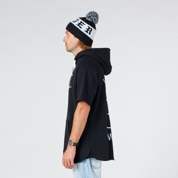 Lower Rico Hood / Sportif in Black