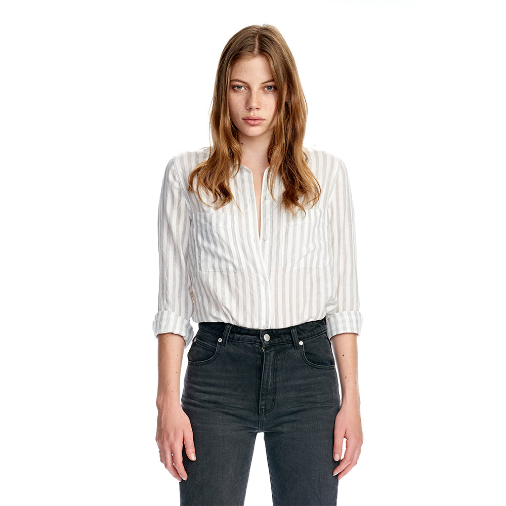 Rollas Days Shirt - Grey Stripe