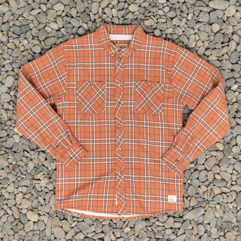 Just Another Fisherman Seaport Shearling Shirt - Rusty Orange