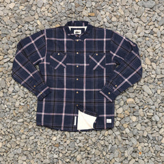 Just Another Fisherman Seasport Shearling Shirt - Blue Check