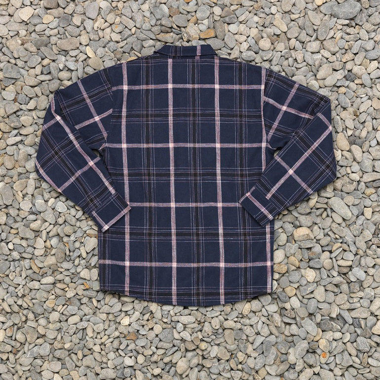 Just Another Fisherman Seasport Shearling Shirt in Blue Check