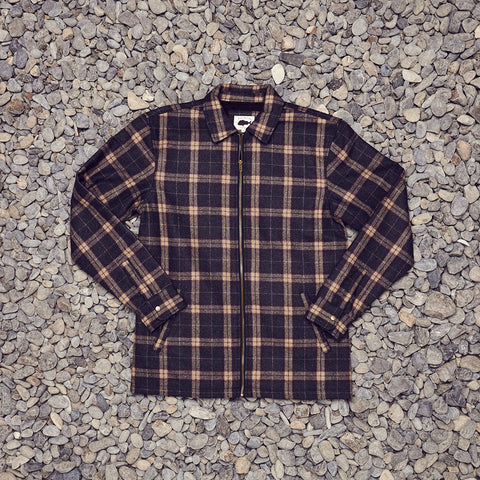 Just Another Fisherman Shelter Wool Jacket - Brown Check