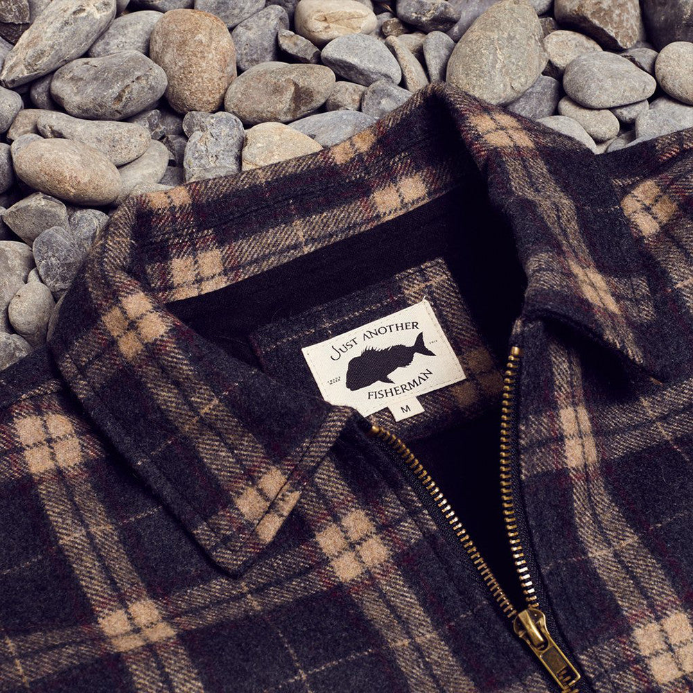 Just Another Fisherman Shelter Wool Jacket (Brown Check)