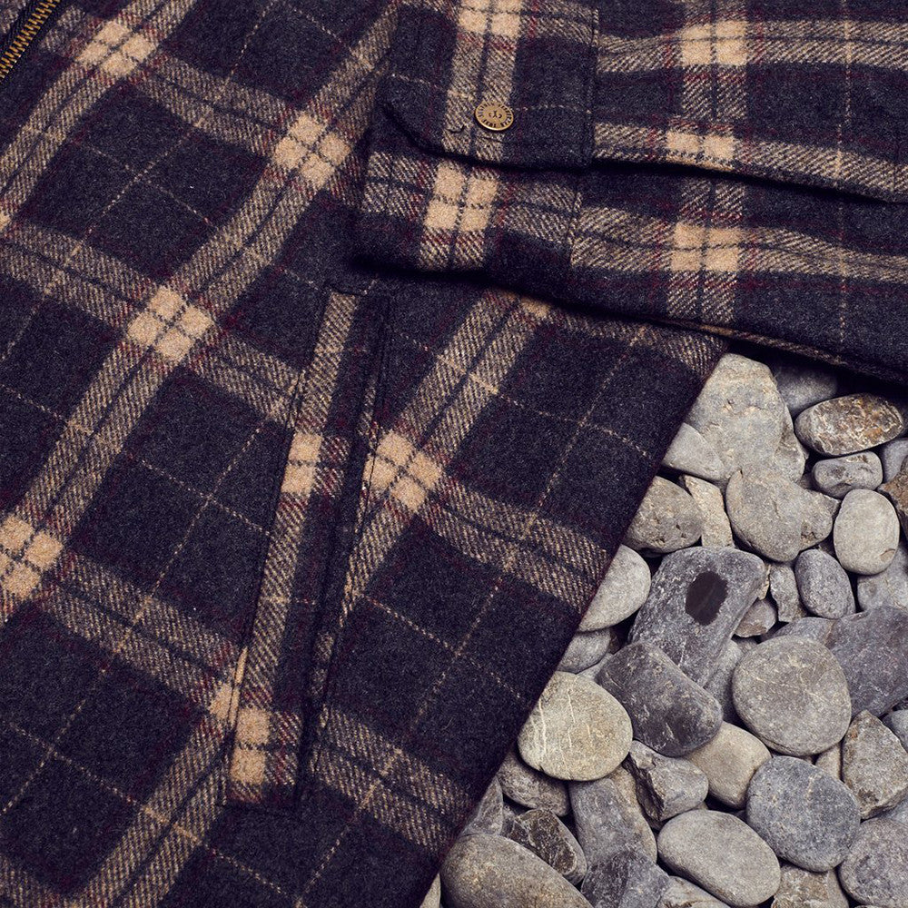 Just Another Fisherman / Shelter Wool Jacket in Brown Check