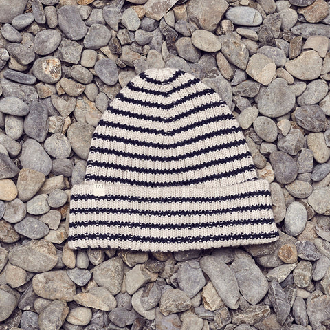 Just Another Fisherman Skipper Beanie - Off White Stripe